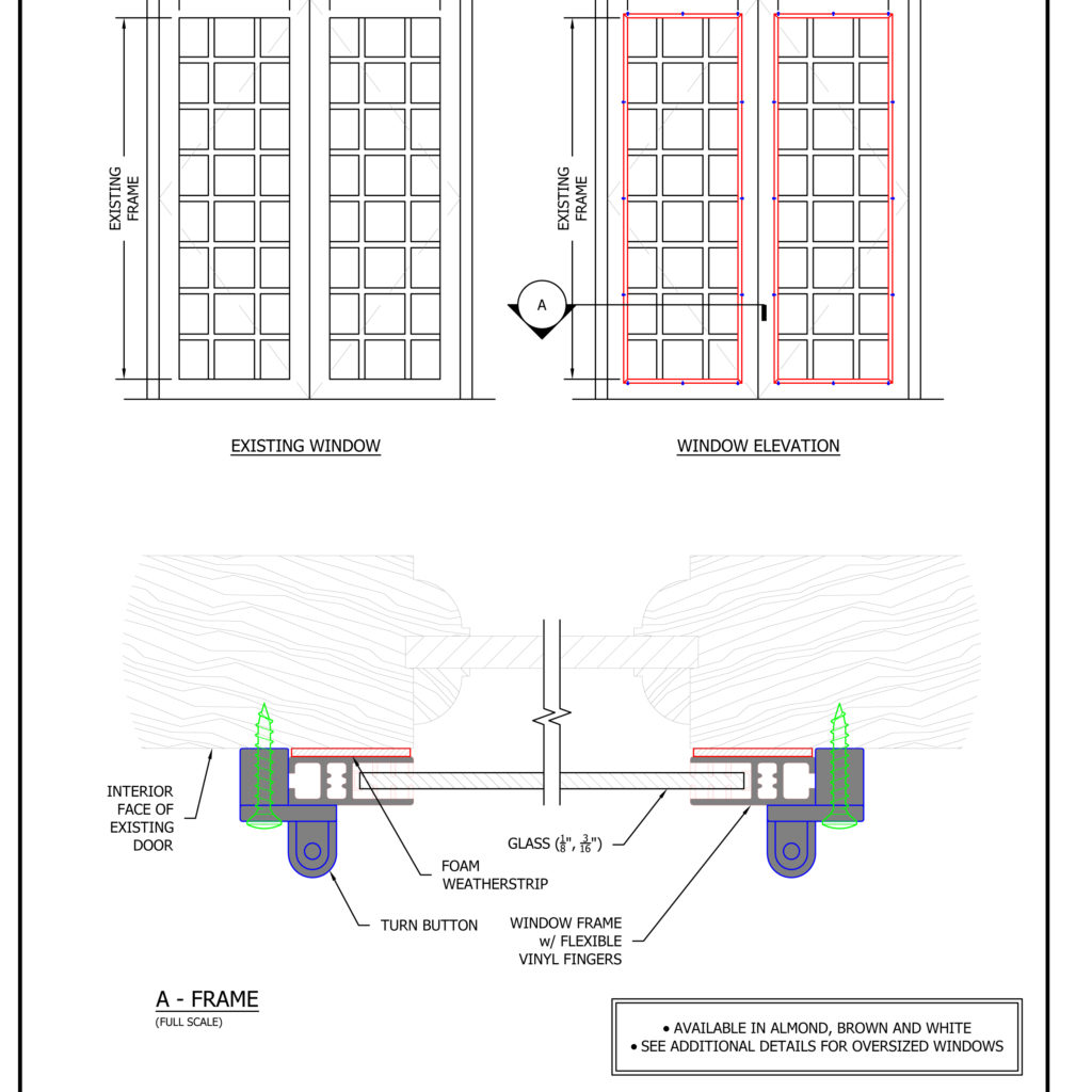 Storm Window Shop Drawings and Architectural & Technical Files ...