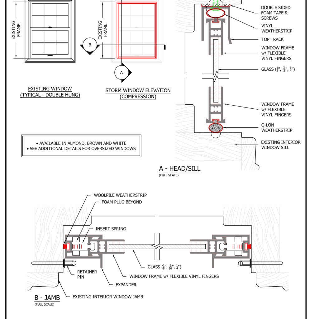 Storm Window Shop Drawings And Architectural Amp Technical