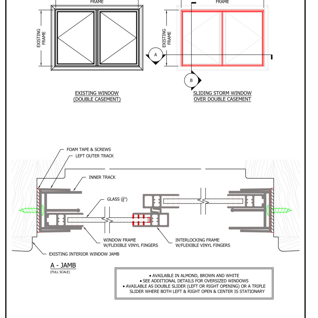 Storm Window Shop Drawings and Architectural & Technical Files